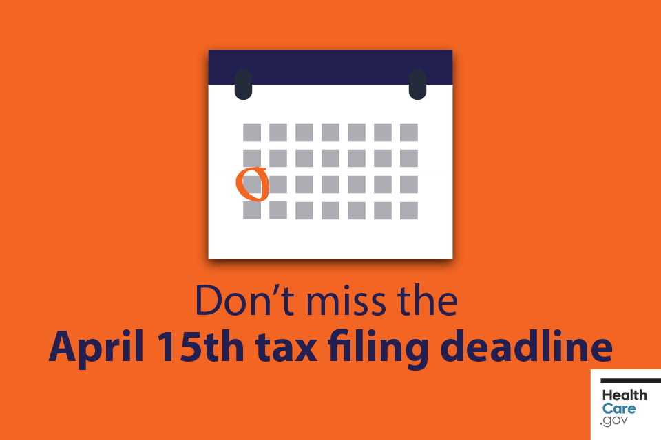 Image: Tax filing deadline circled on calendar