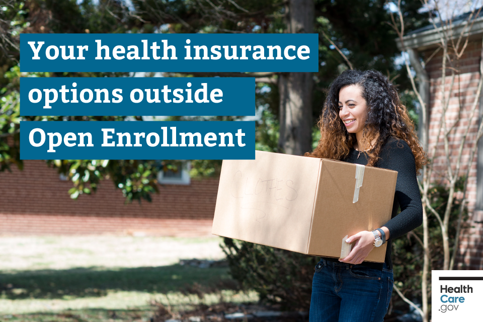 Image: {Woman carrying moving boxes qualifies for Special Enrollment Period}