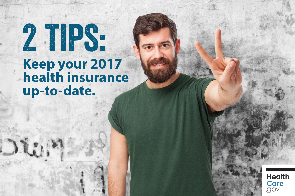 Image: {Man using 2 tips for 2017 Marketplace health insurance}