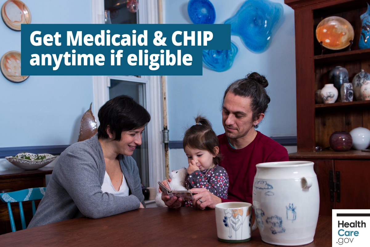 Image: {See if eligible for Medicaid & CHIP}
