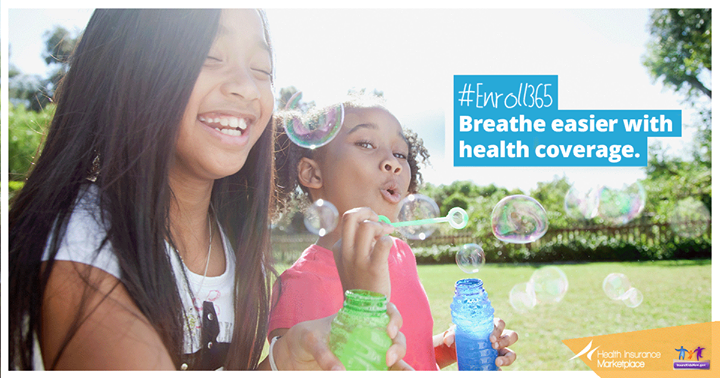 Breathe easier with health coverage.