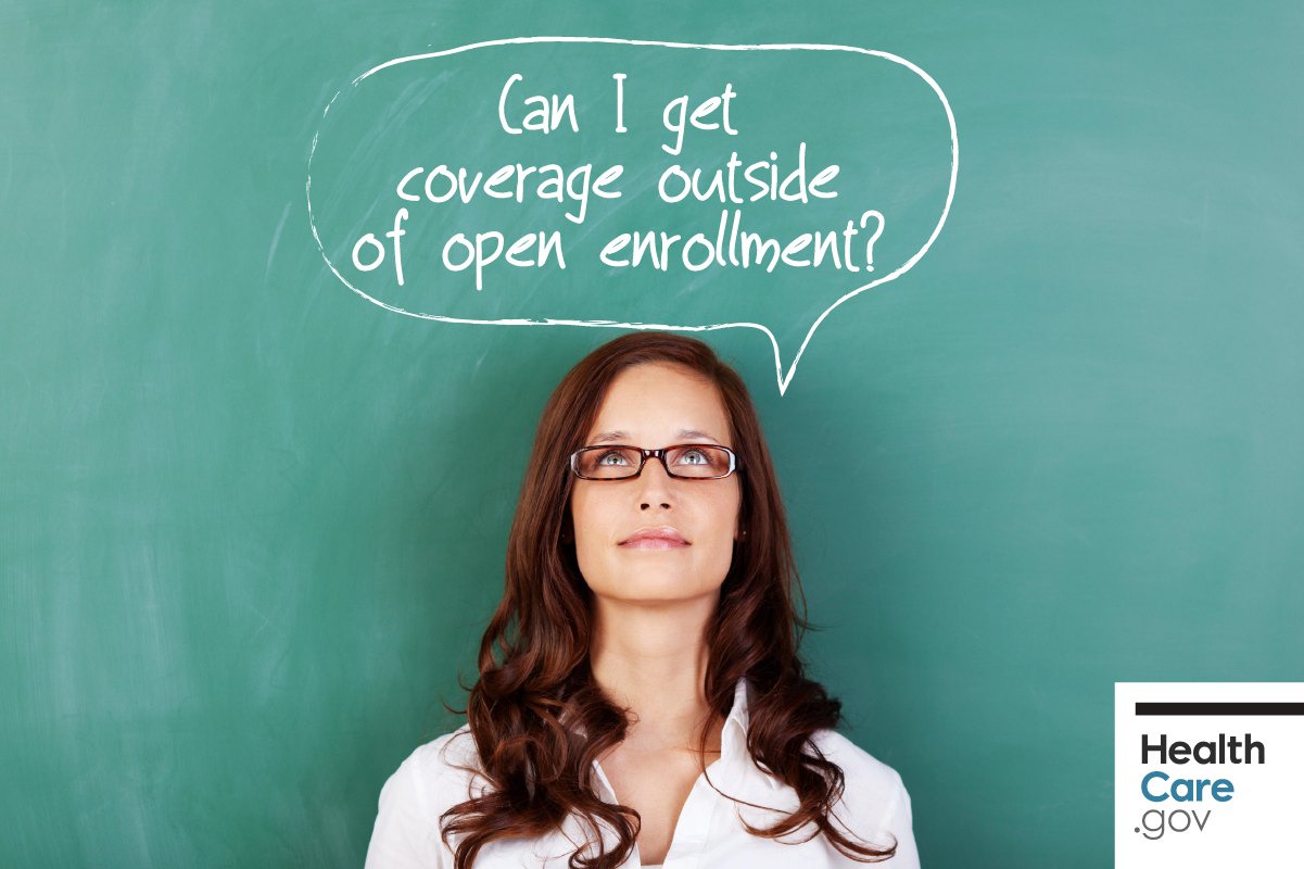 Image: Woman wondering if she qualifies for a special enrollment period