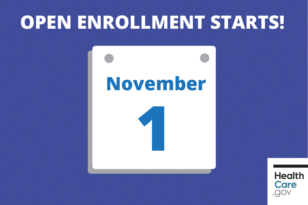 Image: {November 1 calendar showing to enroll in 2017 health insurance today}