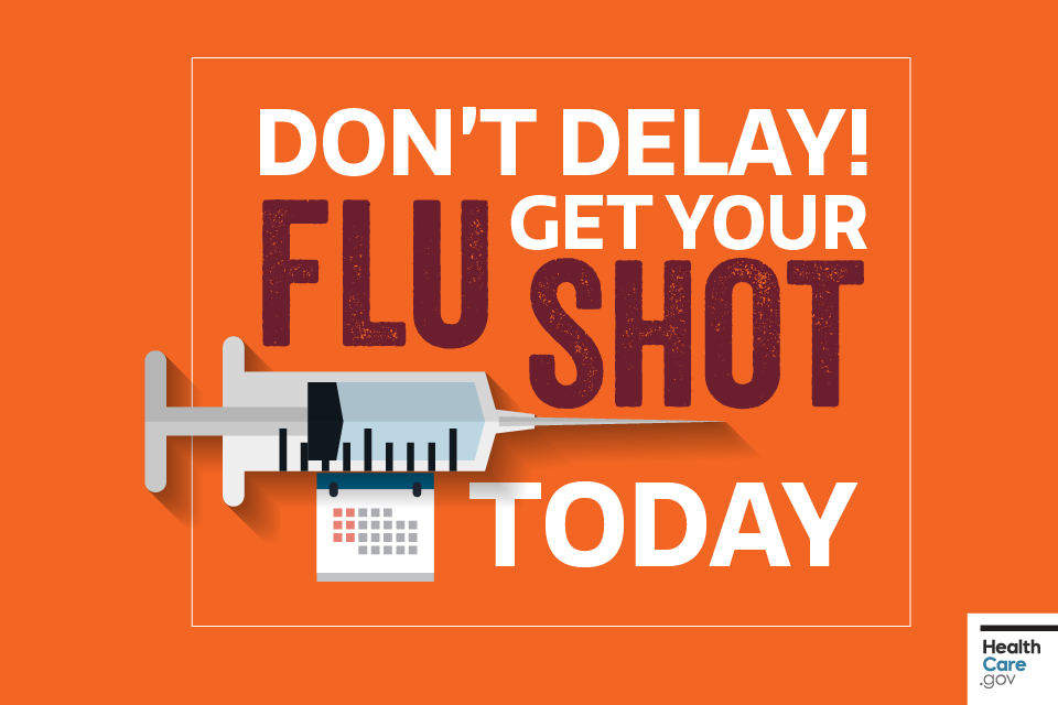Image: Don't delay! Get your flu shot today