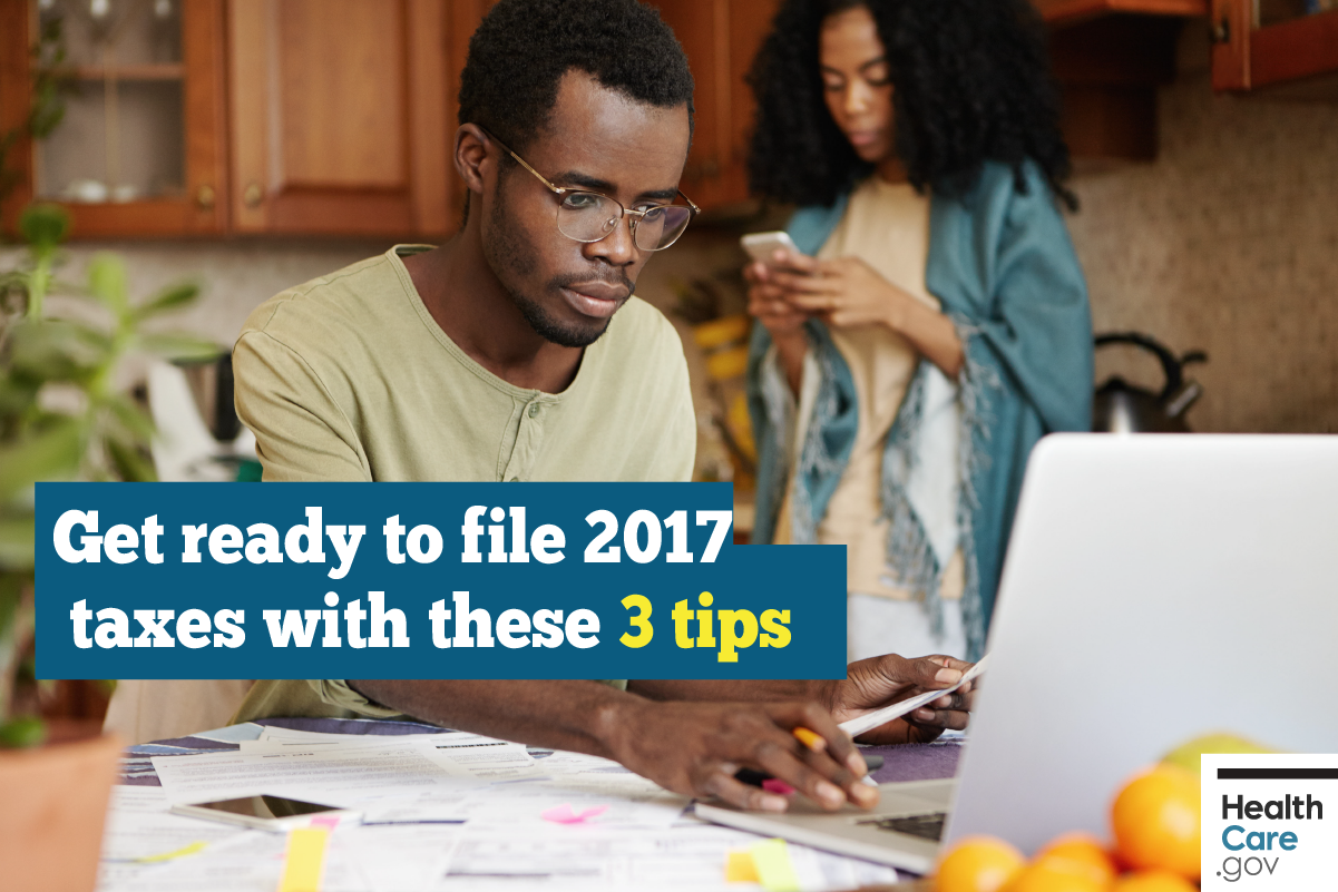 Image: {Get ready to file 2017 taxes with these tips}