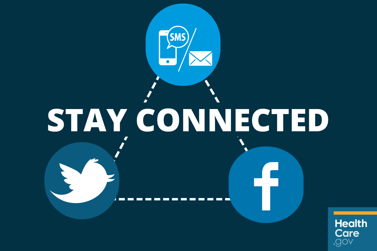Image: Stay connected for health insurance information