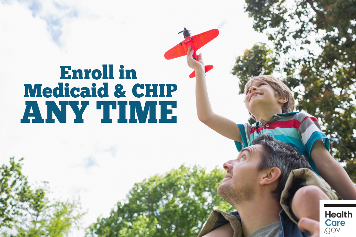 Image: {Father and son enroll in Medicaid & CHIP outside Open Enrollment}