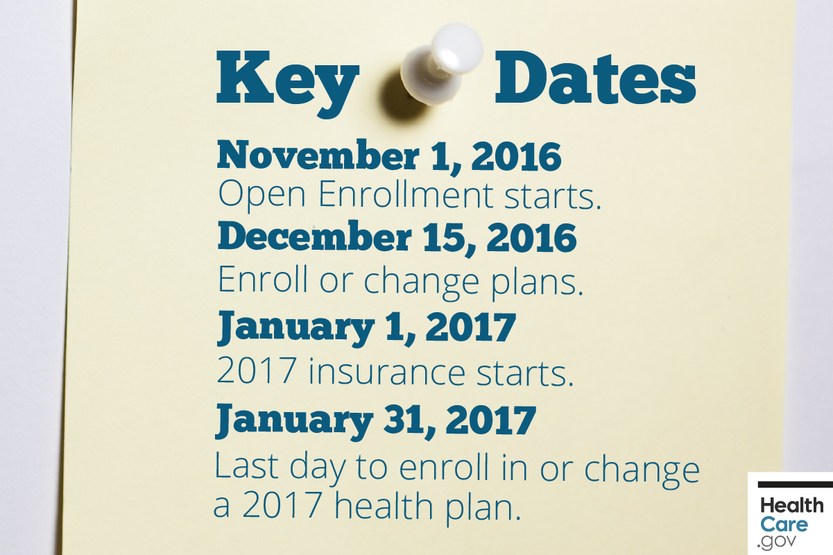 Image: {Pinned note with key health insurance deadlines and dates to remember}