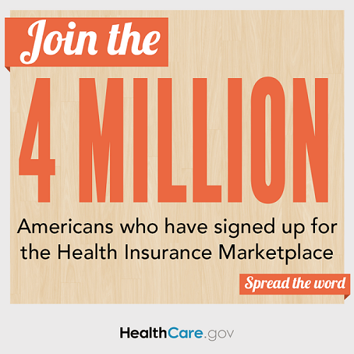 Join the 4 million Americans who have signed up for the Health Insurance Marketplace
