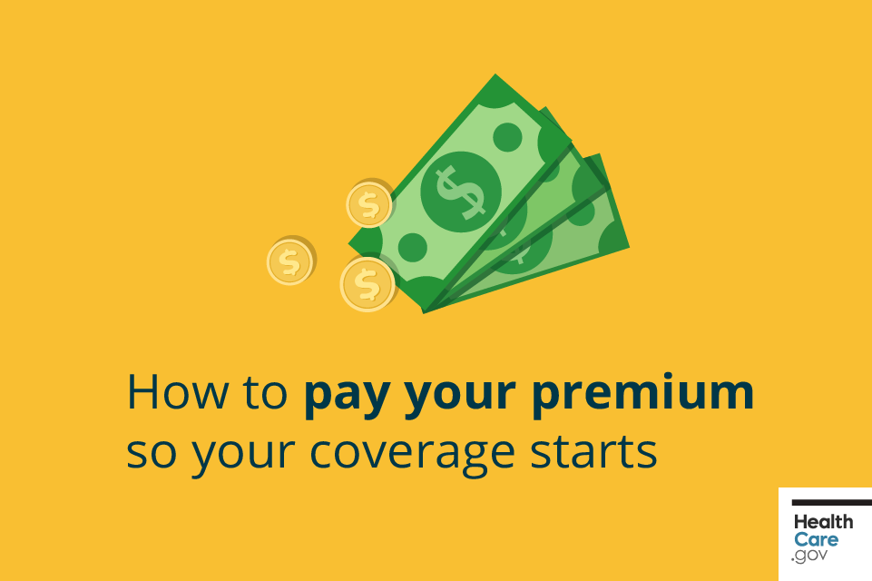 Image: {Dollars and coins above banner text about paying premium}