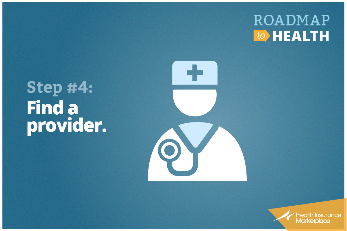Step 4: Find a provider.