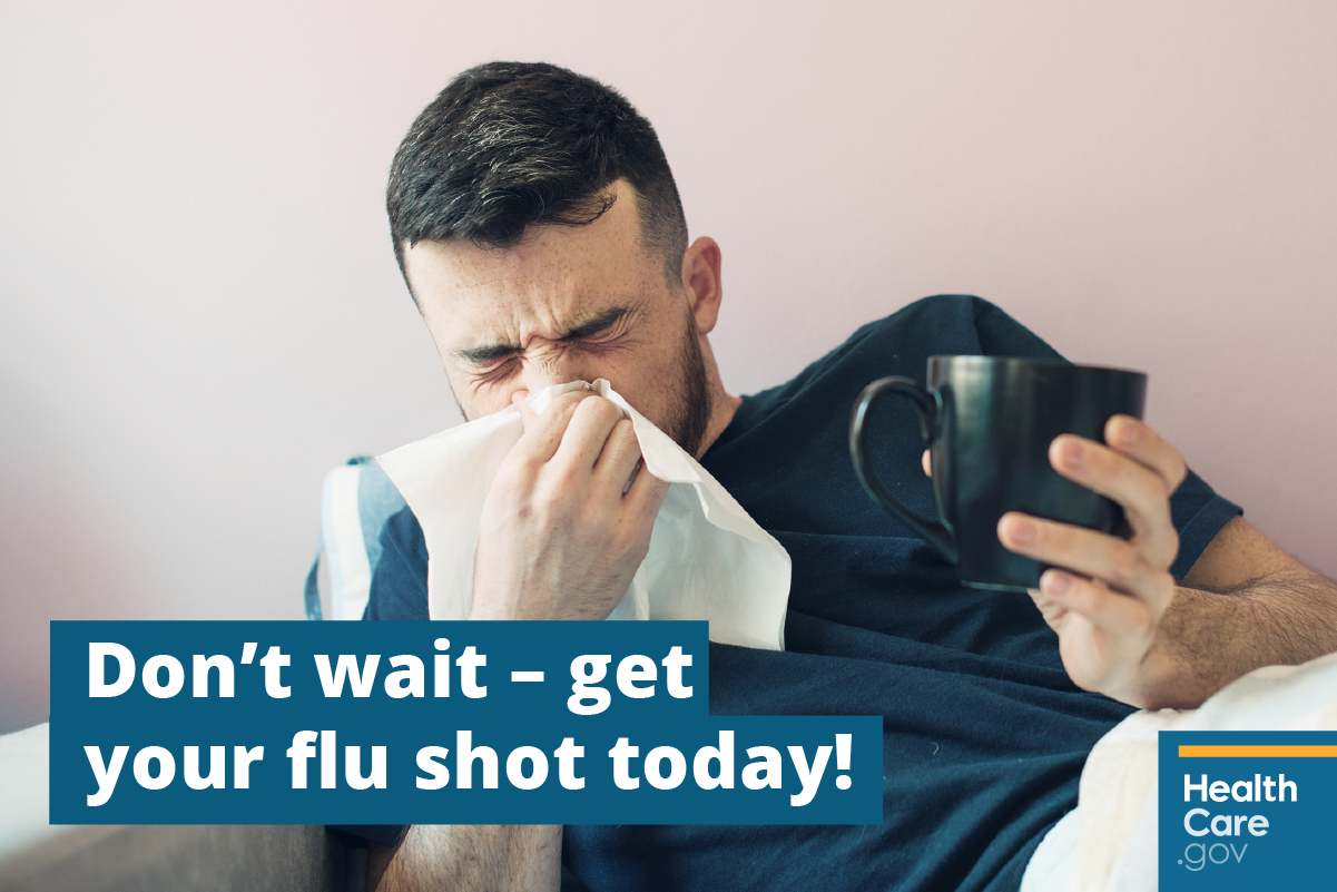 Image: {Stay healthy by getting a free flu shot}