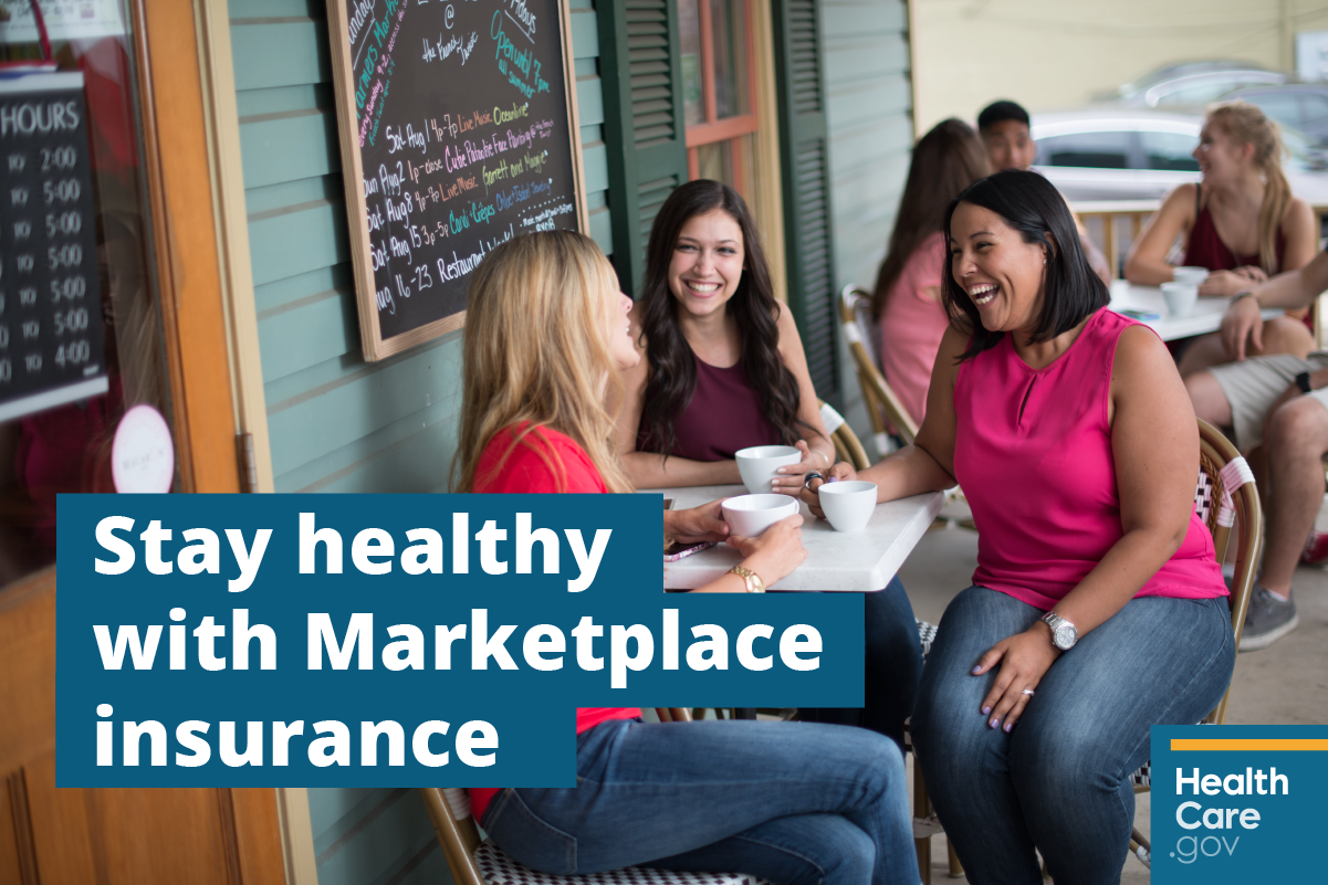 Image: {Stay healthy with your Marketplace health insurance  }