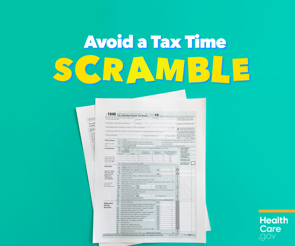 Image: IRS health insurance tax forms to avoid the tax time scramble