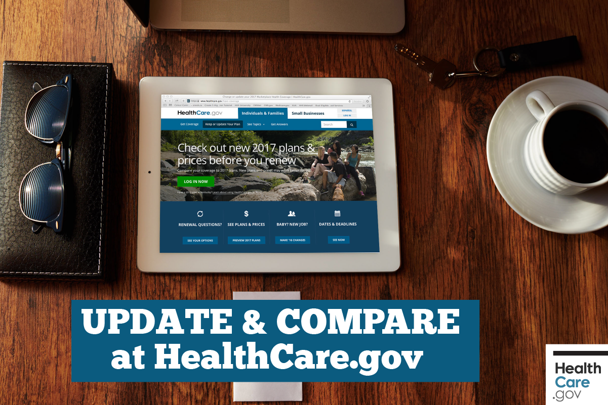 Image: {Update compare at HealthCare.gov}